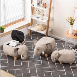 Wohnzimmerpakete online-Aufbewahrungshocker Schuhe Elefant Ändern Wohnzimmer Sofa Fuß Stuhl Tuch Paket Holz Moderne Hocker Neue Ankunft Möbel