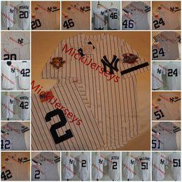 Derek jeter jerseys online-2001 WS jerseys # 2 Derek Jeter # 20 JORGE POSADA # 24 TINO MARTINEZ # 42 MARIANO RIVERA # 46 Andy Pettitte # 51 BERNIE WILLIAMS Jersey