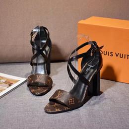 Sandalias de pescado para las mujeres online-Nueva moda de cuña zapatos de mujer gladiador hebilla de cinturón 10 cm zapatos de tacón alto boca de pescado sandalias 2019 sandalia mujeres buty damskie