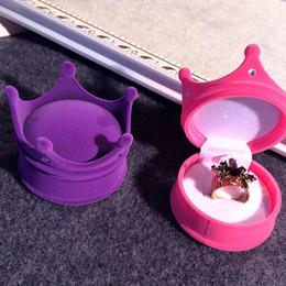 kronenförmige kisten Rabatt Art- und Weisehochzeitsgeschenkkasten-reizende Prinzessin Crown Shaped Jewelry Box Cosmetic Cases Storage Boxes 4 Colors