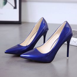 b0289810a6cb Dress Phyanic Blue White Red Black Pumps Women Shoes Spring Pointed Thin High  Heels 10 Cm 8 Cm Elegant Office Ladies Scarpe Donna