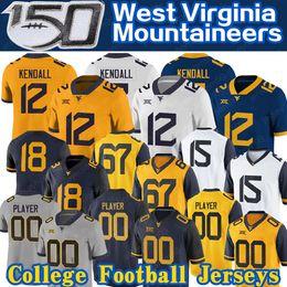 2019 oregon ducks shorts 2019 West Virginia Austin Kendall Mountaineers Jersey Sam James Leddie Brown T. J. Simmons George Campbell WVU Fußball Jersey