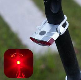 2019 luzes da noite da bicicleta da montanha 4 LED Mountain Bike Luz Traseira Da Cauda À Prova D 'Água Recarregável USB Lâmpada Destacando Luzes de Equitação Da Noite Bicicleta Farolins traseiros ZZA541 desconto luzes da noite da bicicleta da montanha