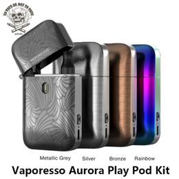 Vaporesso Aurora Play Pod Kit Batería incorporada de 650mAh con 1.3ohm 2ml Pod Flip and Fill Cartridge Lighter Design Vape Kit DHL desde fabricantes
