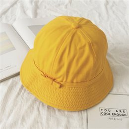 2018 New Fashion Summer Literature and Art Female Soft Sister Chao  Fisherman s Cap Lovely Yellow Hat 9eef78cd9b74
