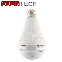 Lumières caméra couleur en Ligne-OUERTECH Ampoule blanche bidirectionnelle à 360 degrés Prise en charge de la caméra IP intelligente sans fil couleur panoramique 960P 128g