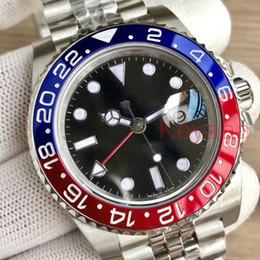 Diseñador de hombres GMT Bisel de cerámica Para hombre Mecánico SS Movimiento automático Reloj Deportes de lujo Hombres Jubileo maestro Relojes de moda Relojes de pulsera desde fabricantes