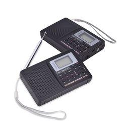 receptor de rádio digital de banda mundial Desconto Recém Digital Portátil Mundo Full Band Radio Receiver AM / FM / SW / MW / LW Rádio com Antena Externa DC128