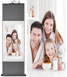 Rouleaux de soie en Ligne-Faites vos photos sur la soie. Silk Scroll Painting Faire une photo Productsprinted Painting
