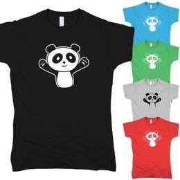 panda bonito do anime Desconto Panda Abraço Bonito Manga Comic Teddy Anime Pandabar Umarmung Kawaii T-Shirt S-XXL