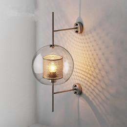 Aplique de pared de la nave online-Estilo industrial Retro Wall Light Vintage creativo conciso vidrio luz cocina restaurante Loft Led pared aplique envío gratis