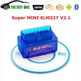 2019 software de programador de chave automático 2019 Super Mini ELM327 Bluetooth V2.1 Ferramenta de Diagnóstico Do Carro OBD2 ELM 327 ELM-327 2.1 Para Android / Symbian / PC Todos OBDII protocolo