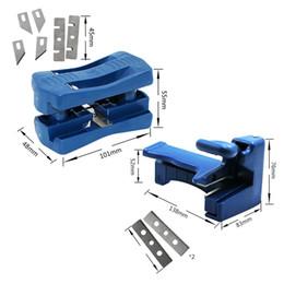Doppelkantenband online-Double Edge Trimmer Banderoliermaschine Set Holz Kopf und Schwanz Trimmer Carpenter Hardware