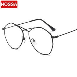 Versione coreana del metallo grande montatura occhiali retrò occhiali da vista personalità versatile specchio poligonale moda occhiali irregolari. da