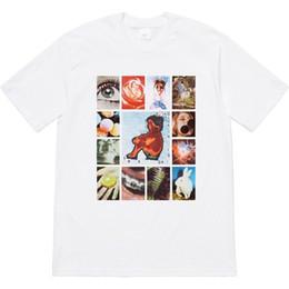 Magliette casual originali online-Box Logo 19SS Original Sins Tee Tops Colore Comic Street Skateboard Fashion T-shirt manica corta casual da tour all'aria aperta HFTTTX118