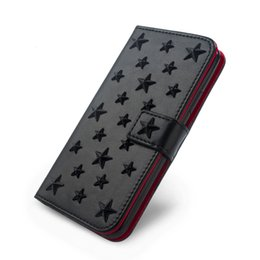 2019 звёзды Роскошный кожаный чехол ручной работы для Iphone Xs 11 Pro MAX XR X 8 7 Plus Diy Stars Заклепка держатель карточки бумажника Флип Обложка книги Hoesje T191017 дешево звёзды