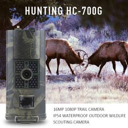 câmera escondida ao ar livre Desconto HC-700A Hc700g HC 700M Câmera de Caça 2G 3G GSM MMS SMS Foto Armadilha Trilha Câmera Visão Noturna Scout Visão Selvagem Câmera Animal Chasse