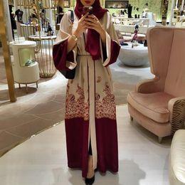 Canada 2018 Mode rouge imprimé robe musulmane Femmes Abaya Moyen-Orient Long Robe Robe Ramadan Dubaï Arab Islamique Vêtements Wj1881 supplier islamic red dress Offre