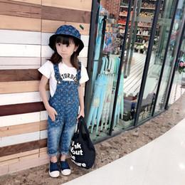 Jeans para meninos meninas on-line-Frete grátis crianças calças de brim meninos calças calças jeans crianças calças de brim macacão calças jeans para a menina crianças roupas de menino