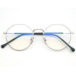 1943d09982 LEAYH Retro Titanium Alloy Glasses Frame Women Men Round Prescription  Eyeglasses Full Frame Screwless Eyewear