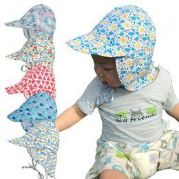 2020 ragazzi cappelli flaps dell'orecchio Summer Baby Cappello per bambini Bambini Outdoor Collo Ear Cover Anti UV Protezione Beach Caps Bambini Boy Girl Nuoto Cap Flap per 0-5 anni sconti ragazzi cappelli flaps dell'orecchio