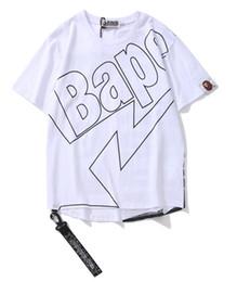 Sommer Heißer verkauf modedesigner marke hohe qualität ape t-shirt männer frauen hip hop band kurzen ärmeln baumwolle 100% t-shirt casual tees von Fabrikanten