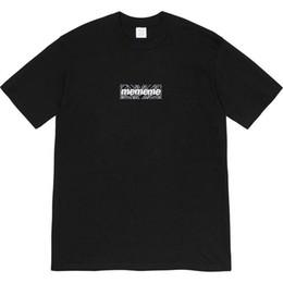 tshirt de rihanna 3d Desconto Box Logo 19ss mens designer de camisetas de luxo roupas 20SS tshirt hip hop camiseta Summer Fashion t Casual Rua womet Hip Hop Homens Mulheres Tee