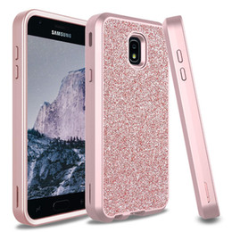 green body glitter Promo Codes - For Samsung J7 2018 Case Luxury Women Bling Glitter Cover Heavy Duty Hybrid Full-Body Protective Cover Defender Case For Samsung J7 Refine