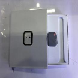 crianças apple iwatch Desconto Presente de aniversário de alta qualidade iWatch 4 44 milímetros Smartwatch Bluetooth série de aço inoxidável sem fios 4 de carregamento sem fio da frequência cardíaca para o relógio da Apple