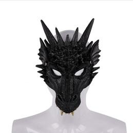 animales de apoyo de escenario Rebajas Fiesta de Carnaval de Halloween espuma de la PU 3D Dragón Animal máscara de la máscara de la etapa de Cosplay Prop