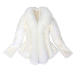 2019 ткани искусственные меха Женщины искусственного меха пальто элегантный толстый теплый новая мода верхняя одежда поддельные меховая куртка пальто ткань женская куртка дешево ткани искусственные меха