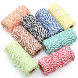 2019 bolsas de regalo de tela de encaje KSCRAFT 2mm Bakers Twine Cordón de algodón natural DIY / Cuerda decorativa hecha a mano para Papercrafting 100 m / rollo