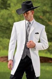 2020 uomini che portano il vestito migliore Cotton smoking cowboy Slim Fit Nero Groom cena vestito da sposa vestito per i migliori uomini indossano il vestito Prom 3 Pezzi (Jacket + Pants + vest) uomini che portano il vestito migliore economici