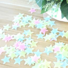 3D PVC lumineux fluorescent étoile autocollant pour mur Backdrop Chambre Décorations de Noël pour la maison Décoration murale auto-adhésif autocollant ? partir de fabricateur