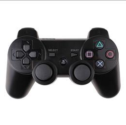 Canada Contrôleurs P.S.3 Manette de jeu sans fil Bluetooth pour contrôleur de jeu Manette de jeu Playstation PS3 à double choc 11 couleurs avec boîte de vente au détail gratuite DHL Offre