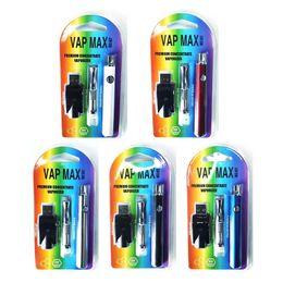 E cigarrillo max batería online-Kit de atomizador de batería de precalentamiento Vap Max Vertex original Kit de inicio de cigarrillos E 350mAh CO2 Oil VV precalentamiento Batería Fit 510 Vape Cartridge