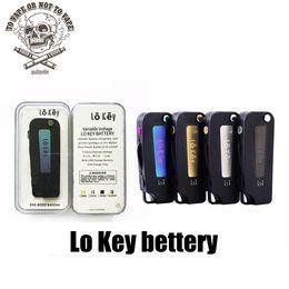 Llave de visión online-Lo Key Battery Flip Vape 350 mah Precalentamiento 3 Voltaje de ajuste 2.4-4.2V 510 Rosca Para todos los cartuchos de Vape Vs Imini Vision Spinner