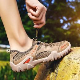 Atmungsaktive Outdoor Wanderschuhe Herren Mesh Gummiband Sommer Sport Casual Fitness Camping Reisen Jogging Roller Schuhe 38-48 von Fabrikanten
