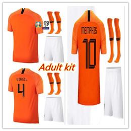 camiseta de fútbol naranja Rebajas Kit de camiseta de fútbol de Países Bajos 2019 para adultos 19 20 camiseta MEMPHIS casa naranja DE LIGT VAN DIJK VIRGIL DE JONG Roon Camisetas de fútbol holandesas