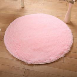 Soie bleu-vert en Ligne-Tapis rond tapis en laine de soie salon table basse tapis chambre chevet chaise d'ordinateur suspendu panier tapis de yoga