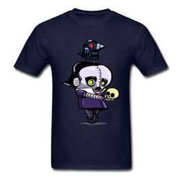 2019 ropa robot Camiseta Geek T Shirt Hombres Camisetas Azules Edgar Allan Poe Robot Raven Nevermore Regalo Tops Camisetas Algodón Ropa Impresión de dibujos animados Único rebajas ropa robot