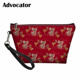 2019 bolsa china china Abogado lindo chino Crested Pattern Cosmetic Case Toiletry Bag Women Makeup Pouch Organizador de viaje Bolso Cosmetiquero Mujer rebajas bolsa china china