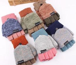 2019 luvas de luva sem dedos Senhoras Luvas Metade do Dedo Feminino Outono Inverno Estilo Coreano Moda Patchwork Quente Luvas Bonitas Sem Dedos