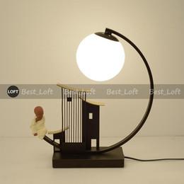 Canada Nouvelle lampe de table créative chinoise minimaliste moderne salon étude chambre chevet lampe de table de style antique de style chinois Offre