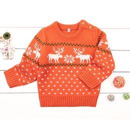 c2ef76ab4031f 2019 Vente Chaude Bébé Filles Pull Cadeau Nouvel Automne   Hiver De Noël  Enfants Deer Chandail Vêtements Enfants Filles De Bande Dessinée