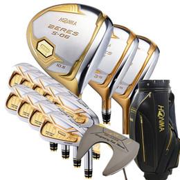 ferrules en bois Promotion Nouveau club de golf S-06 4 étoiles Golf clubs complet Conducteur + bois + fairway fer + putter (14pcs) arbre graphite couvre pas de sac