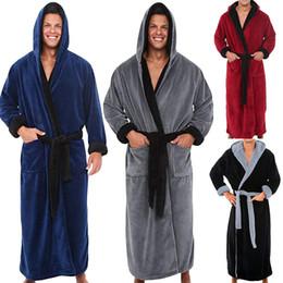 Men s Winter Lengthened Plush Shawl Bathrobe Home Clothes Long Sleeved Robe  Coat 11.7 C18122801 ab25aaf1d