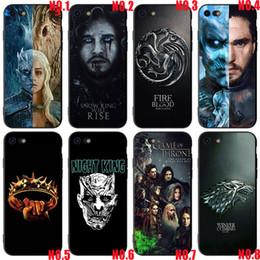 2019 coffrets de téléphone Game of Thrones pour iPhone 7 7plus 8 8plus, conceptions Game of Thrones pour Iphone XR, coque de protection en plastique dur coffrets de téléphone pas cher