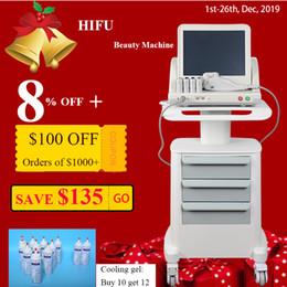 maschinen für Rabatt Medical Grade HIFU hohe Intensität fokussierter Ultraschall HIFU-Face Lift Maschine Falten entfernen mit 5 Köpfen für Gesicht und Körper