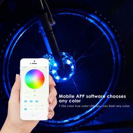 Téléphone Contrôle Vélo Vélo Moyeu Lumière Imperméable De Charge Vélo Roue Lumière Bluetooth Contrôle Vélo Moyeu LED Avertissement Spoke Lamp ? partir de fabricateur